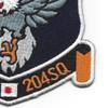 204th Air Lift Squadron Hyakuri Japan Patch | Lower Right Quadrant