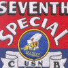 7th SPECIAL SEABEE Battalion WWII Patch   Center Detail