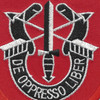 7th Special Forces Group with Crest Large Patch   Center Detail