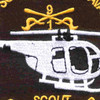 1st Squadron Charlie Scout Company 9th Cavalry Regiment Patch | Center Detail
