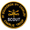 1st Squadron Charlie Company 9th Cavalry Regiment Patch Scout Charlie Troop