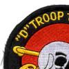 1st Squadron 7th Air Cavalry Aviation Attack Regiment Delta Troop Patch | Upper Left Quadrant