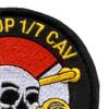 1st Squadron 7th Air Cavalry Aviation Attack Regiment Delta Troop Patch | Upper Right Quadrant