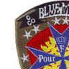 1st Squadron 10th Avaition Attack Mountain  Division Charlie Troop Military Blue Max Cav-Attack Patch Hook And Loop | Upper Left Quadrant