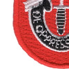 7th Special Forces Group Flash Patch With Crest | Lower Left Quadrant