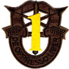 1st Special Forces Group Crest OD Yellow Patch