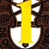 1st Special Forces Group Crest OD Yellow Patch | Center Detail