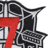 7th Special Forces Group Crest Red 7 Patch | Upper Right Quadrant