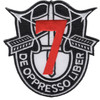 7th Special Forces Group Crest Red 7 Patch