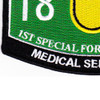 1st Special Forces Group 18D Military Occupational Specialty MOS Patch Medical Sergeant | Lower Left Quadrant