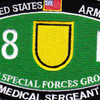 1st Special Forces Group 18D Military Occupational Specialty MOS Patch Medical Sergeant | Center Detail