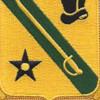 803rd Armor Cavalry Regiment Patch   Center Detail