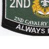 2nd Cavalry Regiment Military Occupational Specialty Rating MOS Patch | Lower Left Quadrant