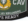 2nd Cavalry Regiment Military Occupational Specialty Rating MOS Patch | Lower Right Quadrant
