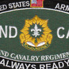 2nd Cavalry Regiment Military Occupational Specialty Rating MOS Patch | Center Detail