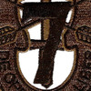 7th Special Forces Group Crest OD Green Patch   Center Detail