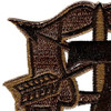 7th Special Forces Group Crest OD Green Patch   Upper Left Quadrant