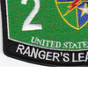 2nd Battalion 75th Ranger Regiment Military Occupational Specialty MOS Rating Patch | Lower Left Quadrant