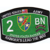 2nd Battalion 75th Ranger Regiment Military Occupational Specialty MOS Rating Patch