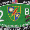 2nd Battalion 75th Ranger Regiment Military Occupational Specialty MOS Rating Patch | Center Detail