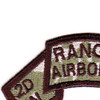 2nd Battalion 75th Airborne Ranger Infantry Regiment Swallowtail Scroll Patch | Upper Left Quadrant