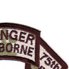 2nd Battalion 75th Airborne Ranger Infantry Regiment Swallowtail Scroll Patch | Upper Right Quadrant