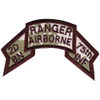 2nd Battalion 75th Airborne Ranger Infantry Regiment Swallowtail Scroll Patch
