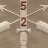 2nd Battalion 5th Special Forces Group Combat Helmet Desert Patch   Center Detail