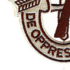7th Special Forces Group Crest Desert Brown 7 Patch | Lower Left Quadrant