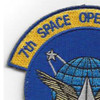 7th Space Operations Squadron Patch Hook And Loop | Upper Left Quadrant