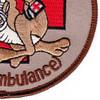 2nd Battalion 1st Regiment Aviation Air Ambulance C Company Patch   Lower Right Quadrant