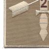 2nd Battalion 19th Special Force Group Helmet Desert Patch   Lower Left Quadrant