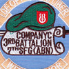 7th SFG (ABN) 3rd Battalion C Company Patch | Center Detail