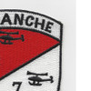 1st of the 7th Aviation Cavalry Regiment Camanche Patch   Upper Right Quadrant