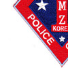1st Marine Corps Division Patch First Prov. Police Company DMZ Korea   Lower Left Quadrant