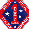 1st Marine Corps Division Patch First Prov. Police Company DMZ Korea | Center Detail