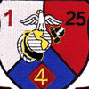 1st Battalion 25th Marines 4th Division Patch | Center Detail