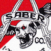 1st Battalion 212th Aviation Cavalry Regiment Saber Company Patch - Version C | Center Detail
