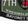 7th Infantry Division Military Occupational Specialty MOS Bayonet Patch | Lower Left Quadrant