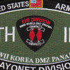7th Infantry Division Military Occupational Specialty MOS Bayonet Patch | Center Detail