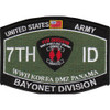 7th Infantry Division Military Occupational Specialty MOS Bayonet Patch
