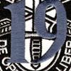 19th Special Forces Group Crest Blue 19 Patch   Center Detail
