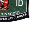 7th Infantry Division 7th Rocon Scout Military Occupational Specialty MOS Patch   Lower Right Quadrant