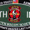 7th Infantry Division 7th Rocon Scout Military Occupational Specialty MOS Patch   Center Detail