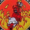 1991 Curse From Hell CVN-72 USS Abraham Lincoln Patch | Center Detail