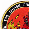 1991 Curse From Hell CVN-72 USS Abraham Lincoln Patch | Upper Left Quadrant
