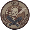 190th Fighter Squadron Desert Patch