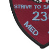 236th Aviation Medical Detachment Patch (Maroon) | Lower Left Quadrant