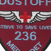 236th Aviation Medical Detachment Patch (Maroon) | Center Detail