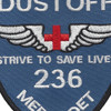 236th Aviation Medical Detachment Patch (Blue) | Center Detail